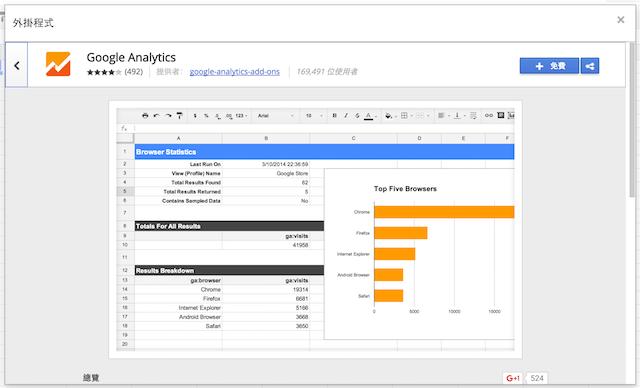 免費安裝 google analytics 應用程式