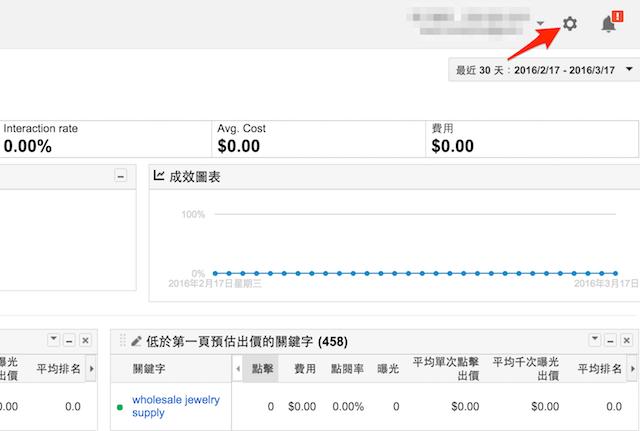 Google AdWords 偏好設定處