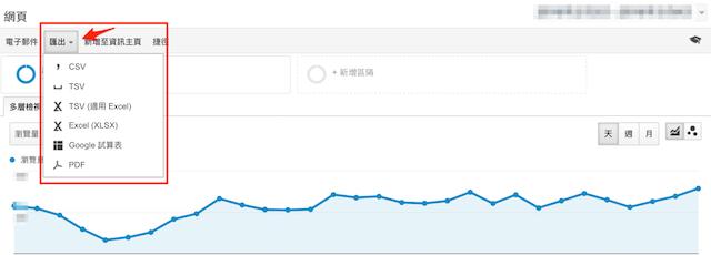 Google Analytics 報表匯出功能