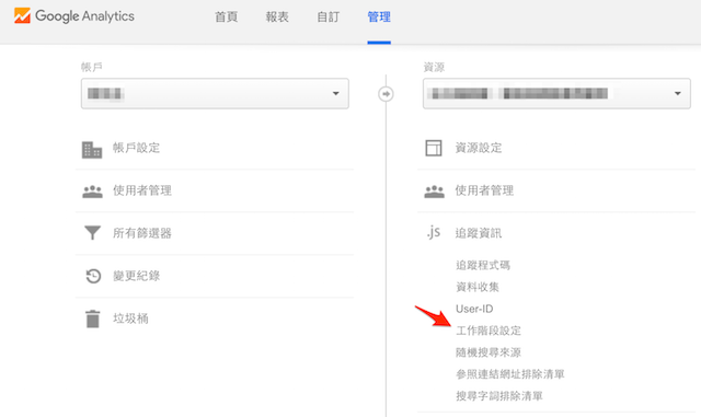 Google Analytics 管理與工作階段設定