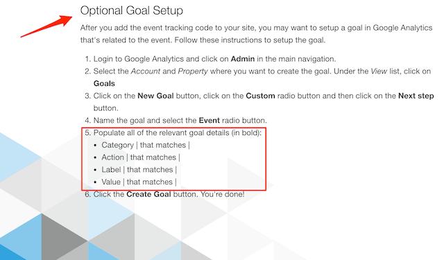Event & goal setting