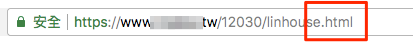 html of the url