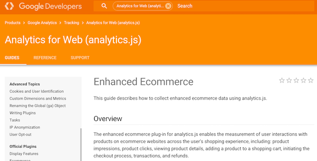 Enhanced_Ecommerce_ _ _Analytics_for_Web__analytics_js__ _ _Google_Developers