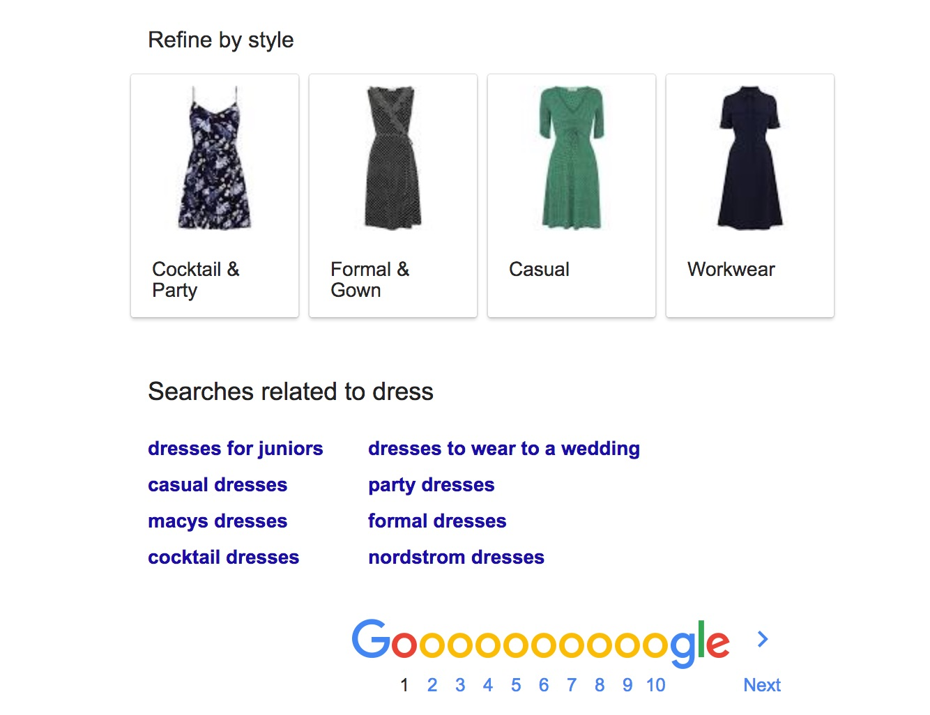 search dress