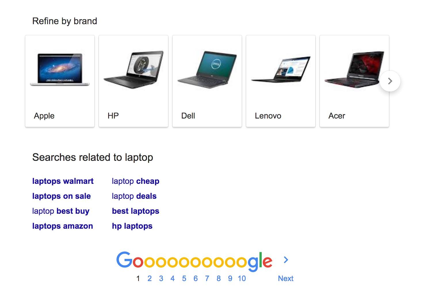 搜尋 laptop