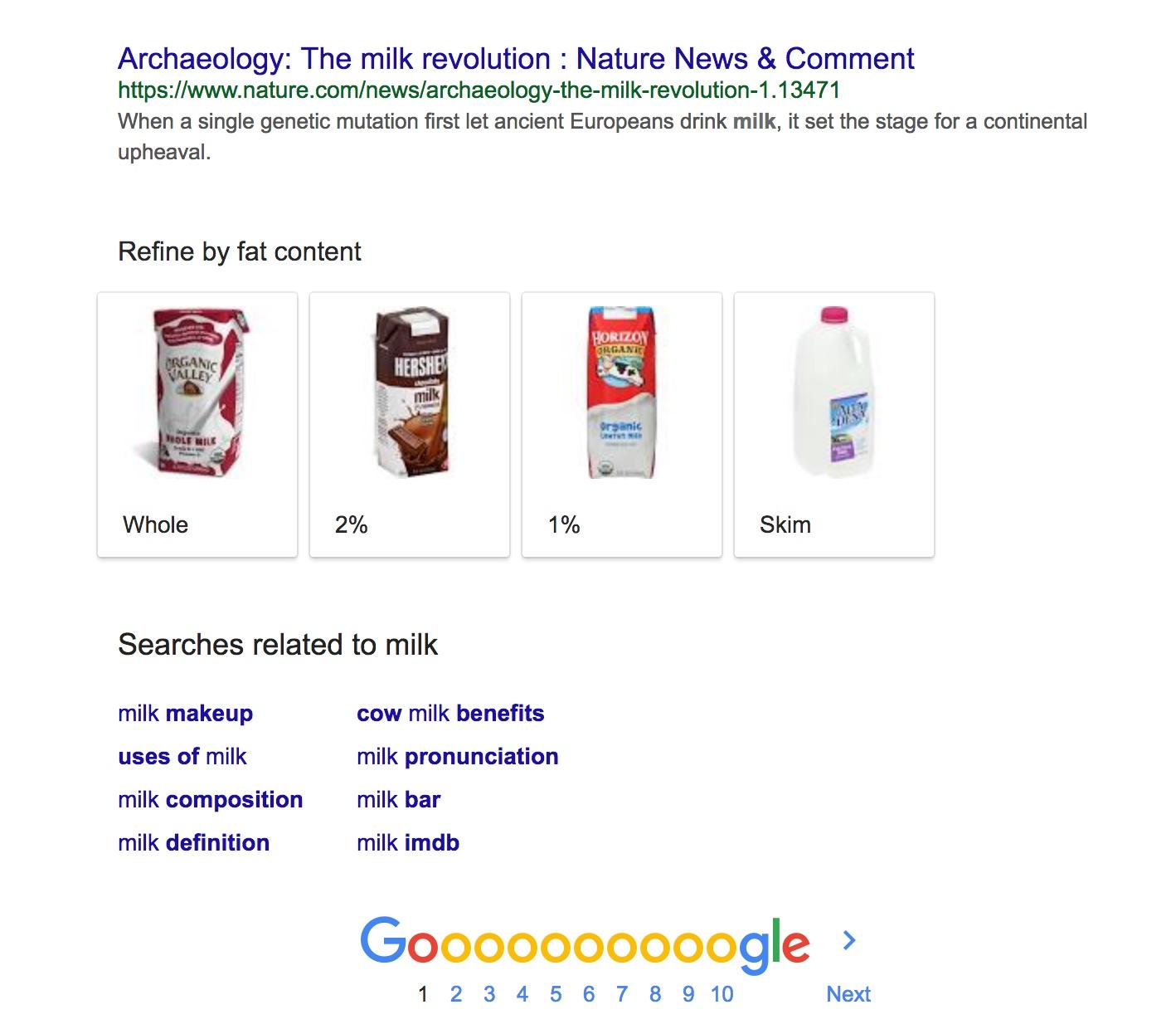 搜尋 milk