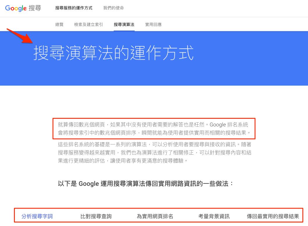 Google 搜尋演算法