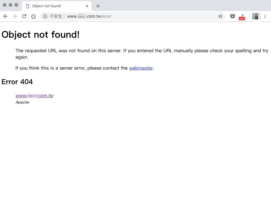 預設 404 page