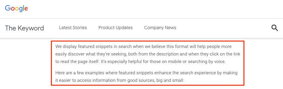Google 部落格文字說明