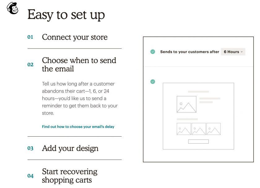 Mailchimp 購物車未結帳自動提醒功能