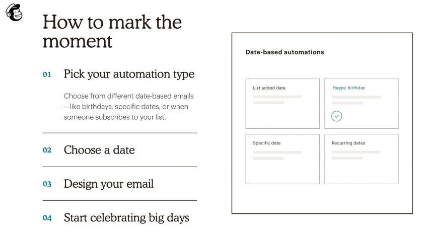 Mailchimp 自動化模式設定