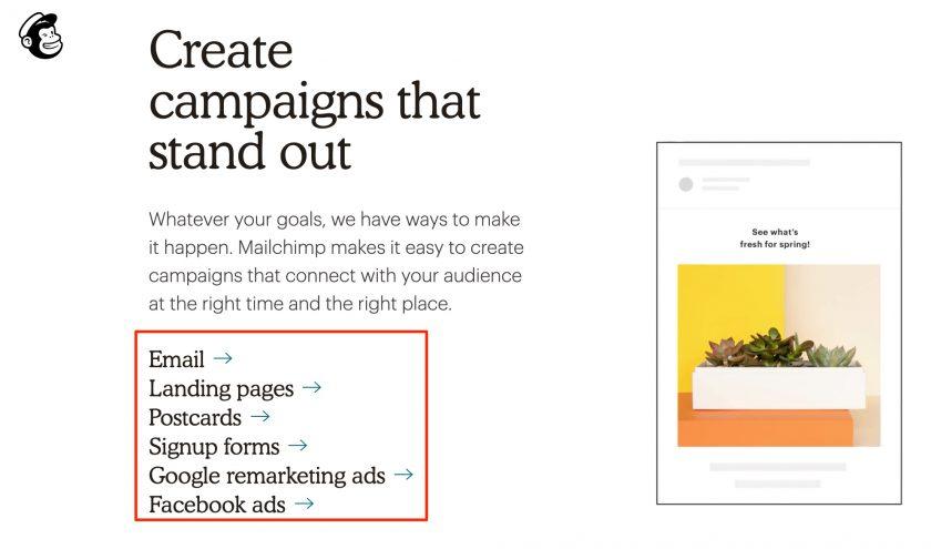 Mailchimp 製作 EDM 以及廣告功能