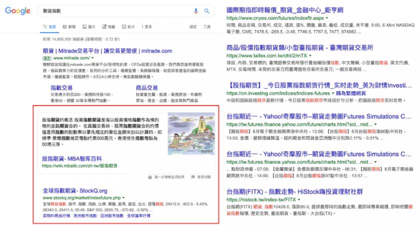 搜尋引擎偏好網站類型