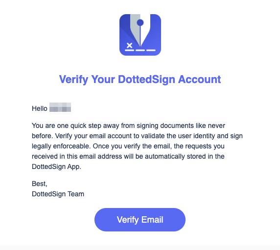 DottedSign 雙重驗證信箱